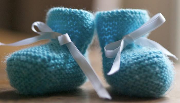 Tiny baby booties
