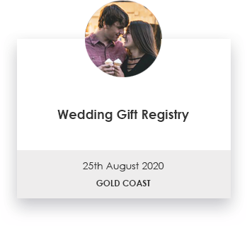 Engagement Gift Registry