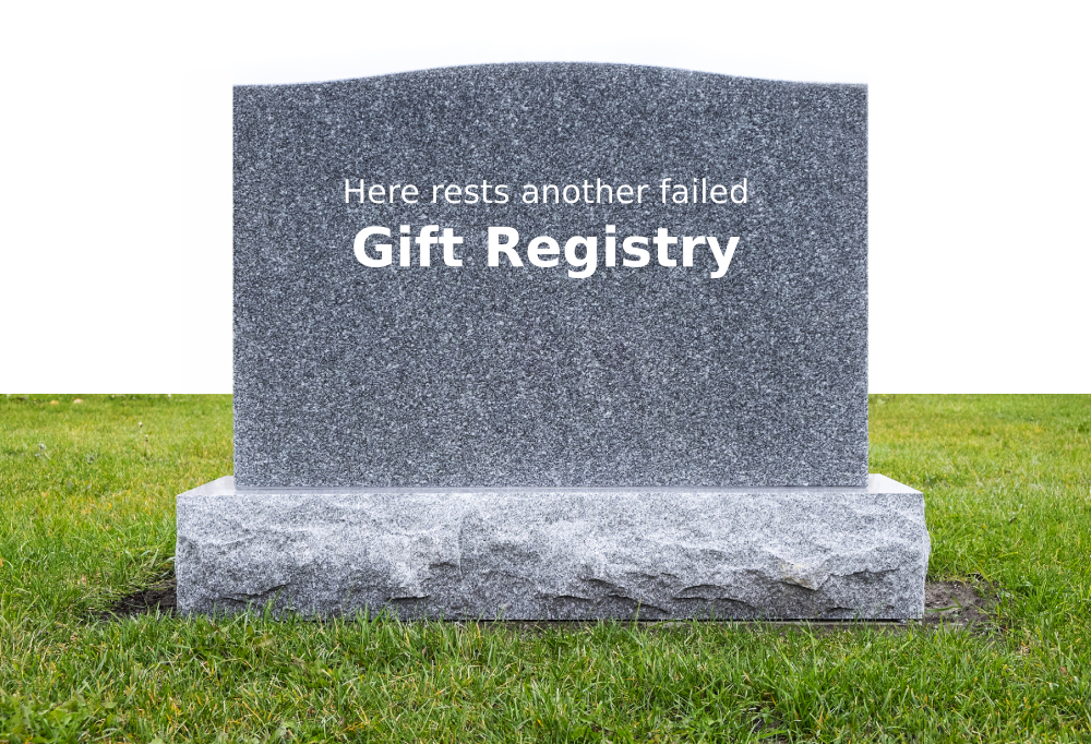 Gift registry tomb stone