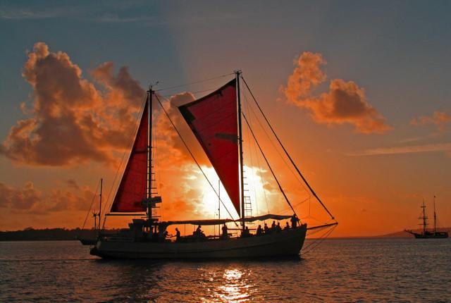 Sunset sailing on Phang Nga Bay