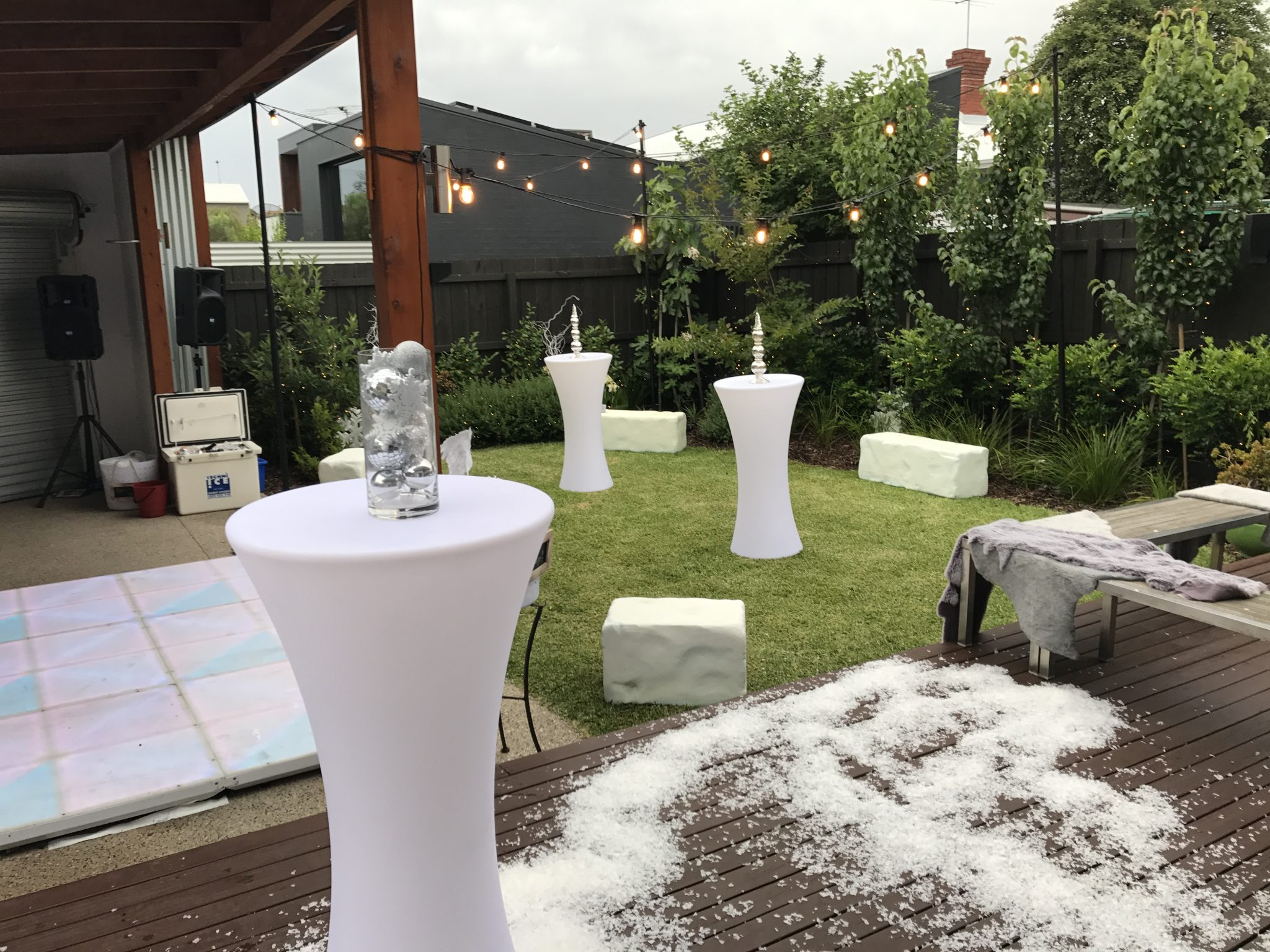 Light up tables and furniture hire