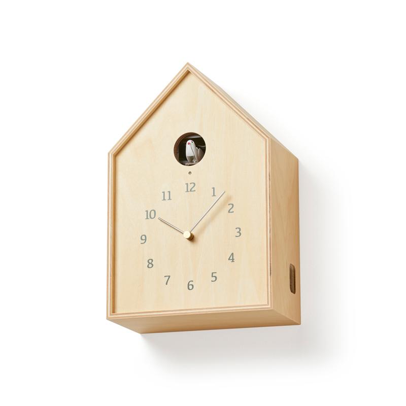 Birdhouse Clock design by Lemnos (SKU: NY16-12 NT)