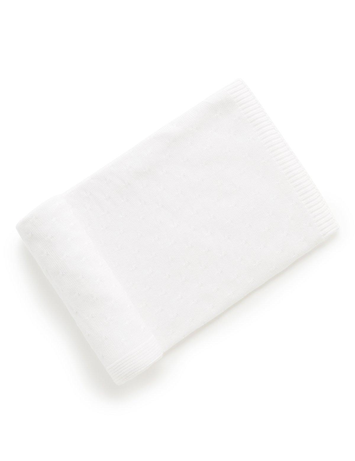 Pure Baby White Blanket