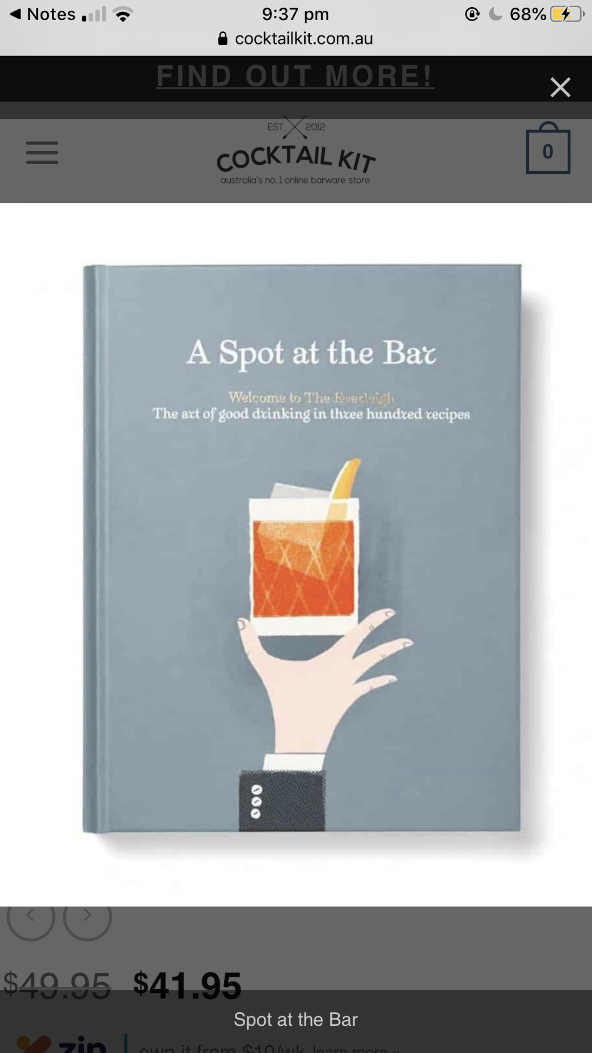 Cocktail recipe book - a spot at the bar
