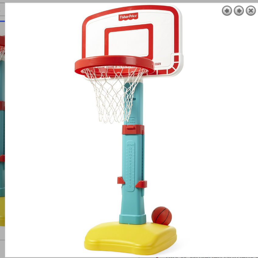 Fisher-Price Jump 'n Dunk Basketball