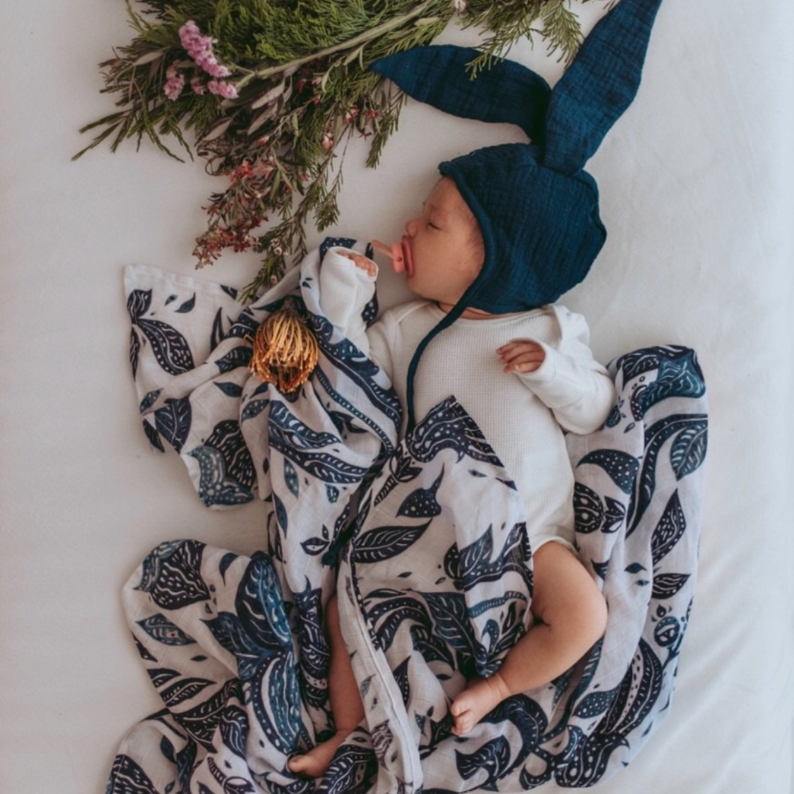 Pop Ya Tot Atlanticus Swaddle $37