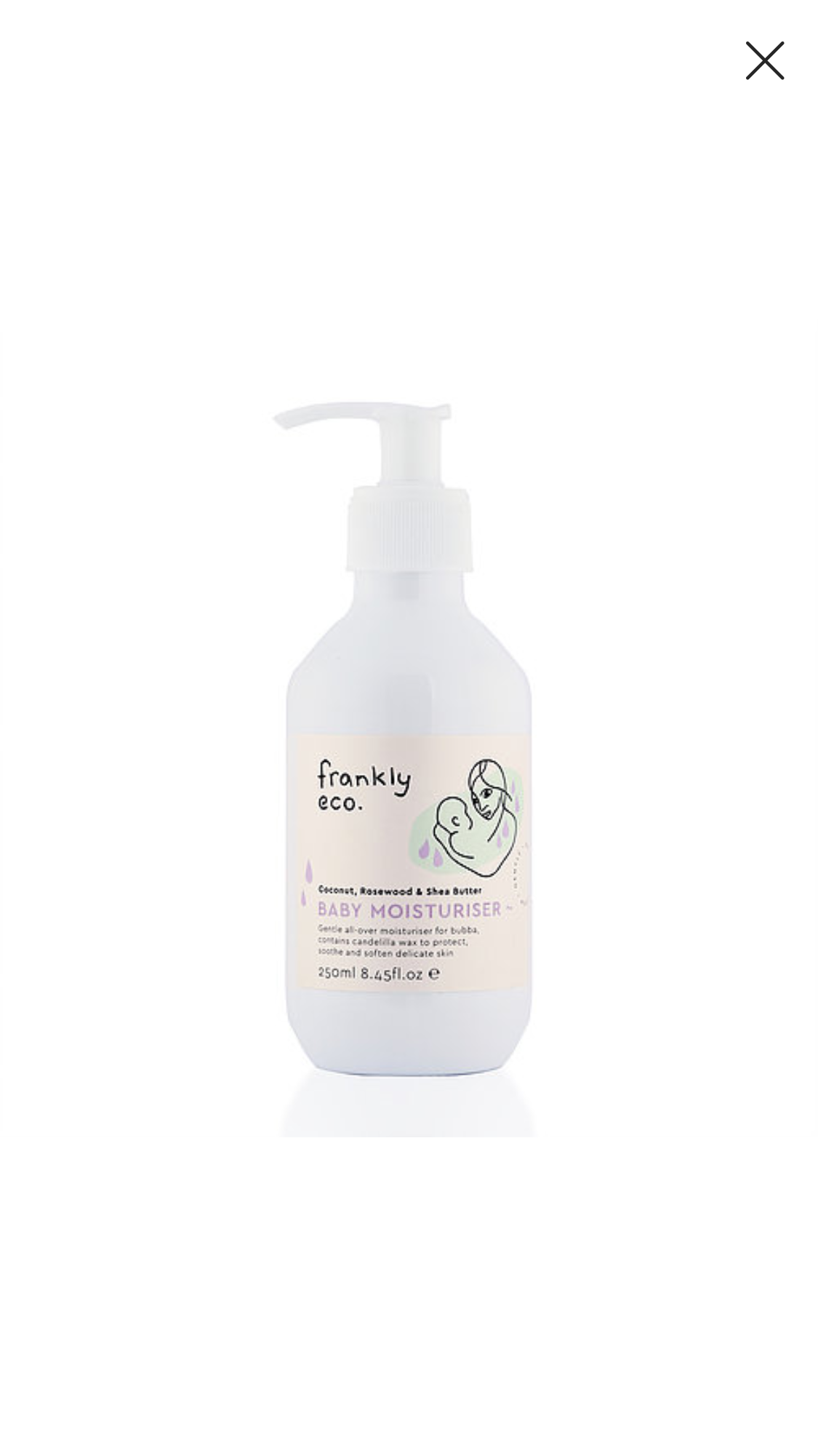 Frankly Eco Baby Moisturiser 250mL $27 each