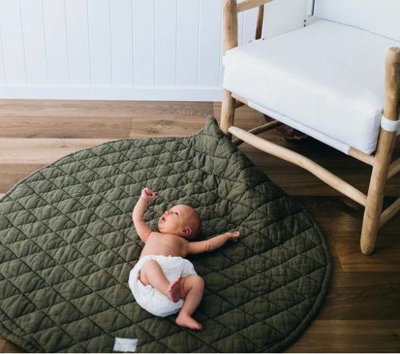 Linen Social Baby Play Mat $142