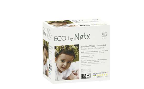 Naty By Nature Babycare Baby Wipes Unscented Triple Pack 3x56pk $13 each