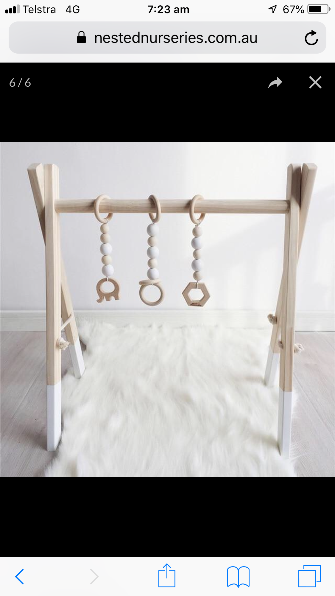 Nested Nurseries Nordic Play Gym White $120