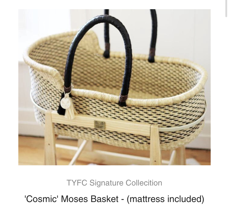 Young Folk Collective Moses Basket & Stand