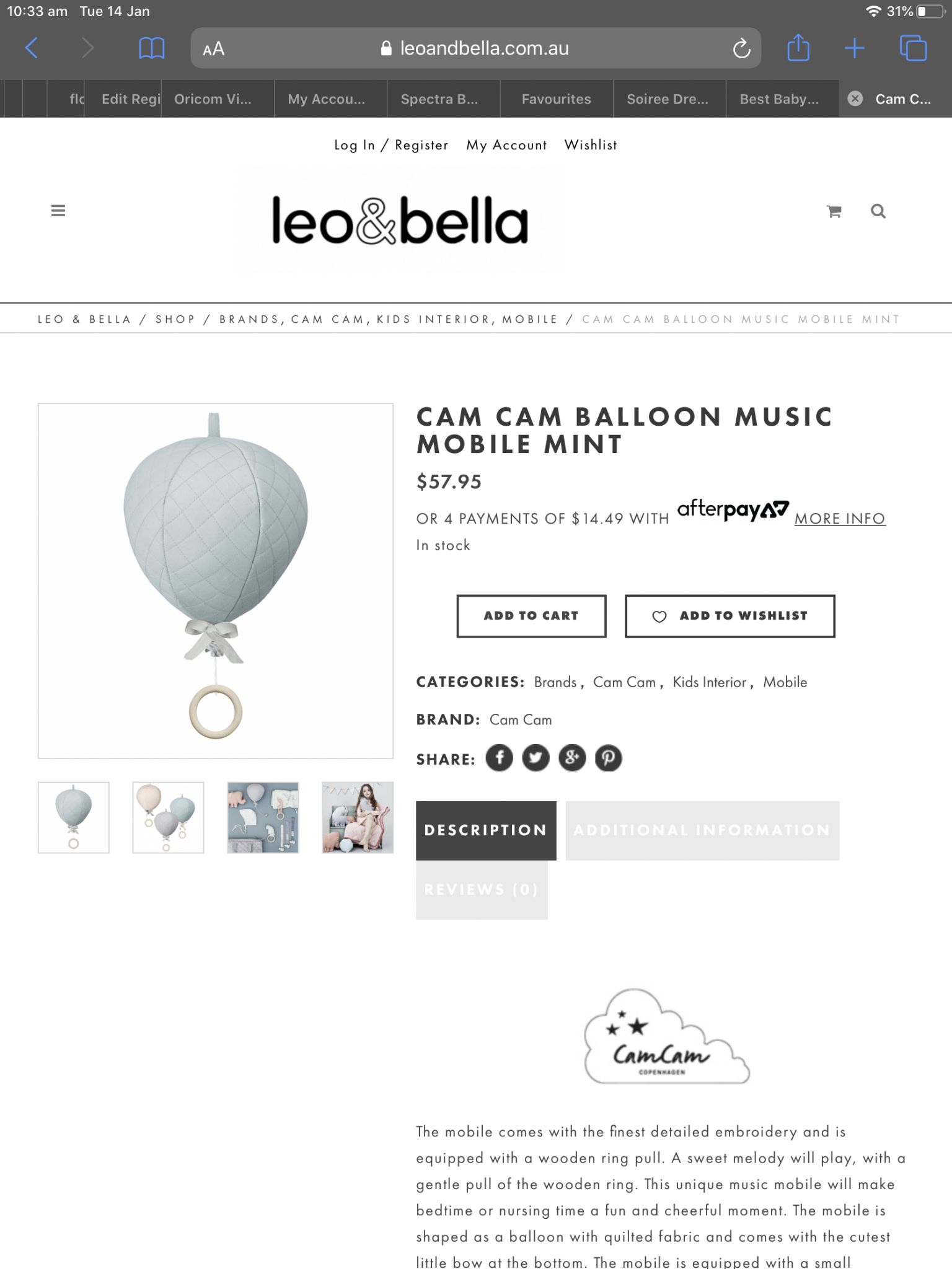 Balloon Music Mobile Mint
