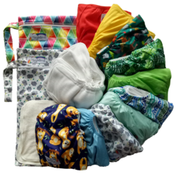 Stay Dry Bamboo Nappy Pack (Hippybottumus)