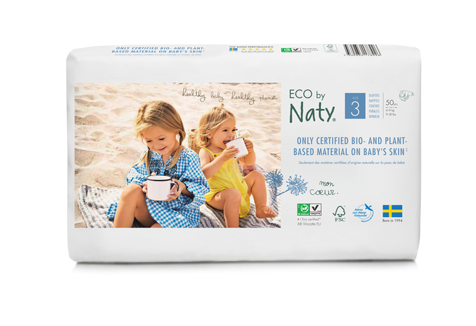 Eco by Naty Baby Nappies Size 3 Pack 50 $23