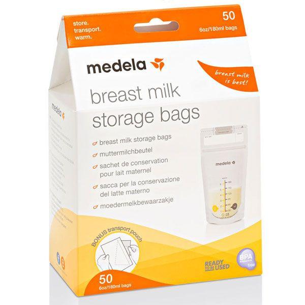 Milk storage bags