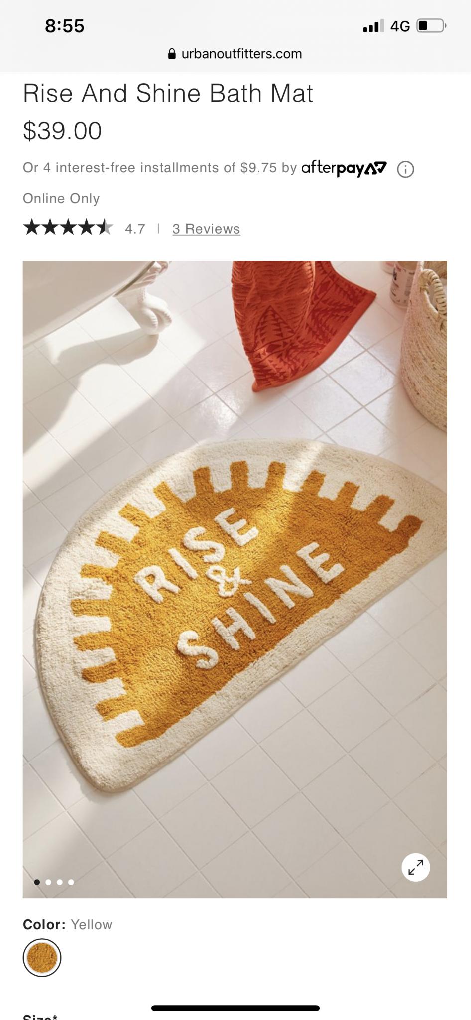 Bath Mat Rise & Shine