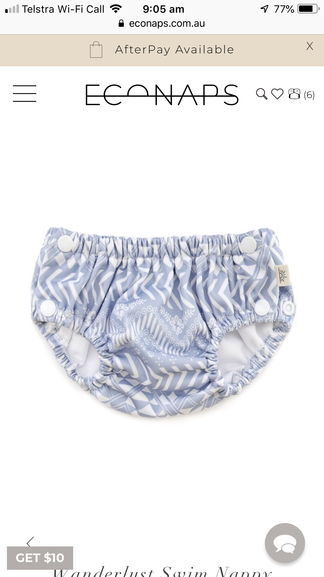 EcoNaps Swim Nappies $25 each