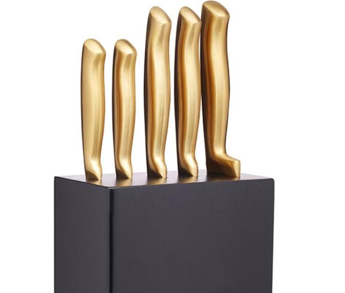Metallic 5pc Knife Set
