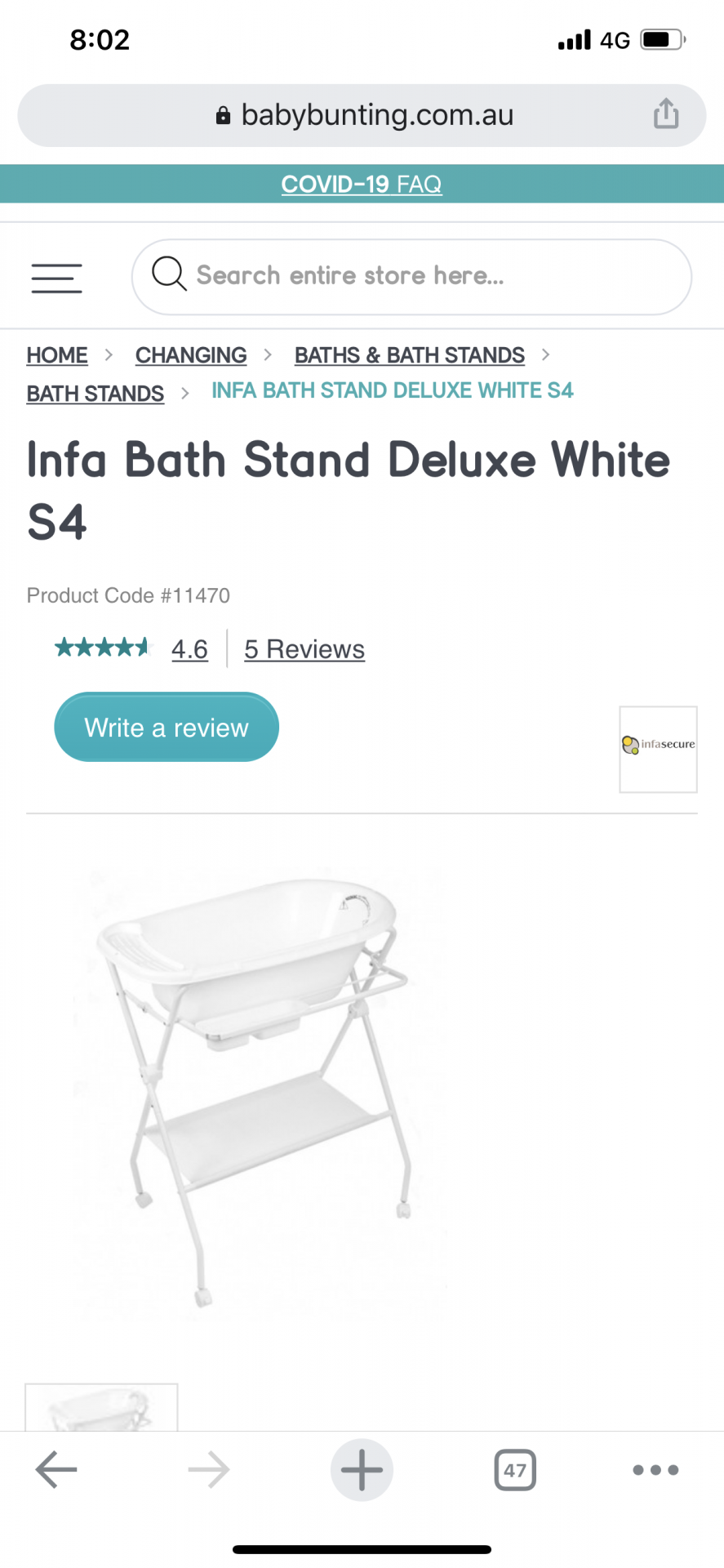 Bath and stand