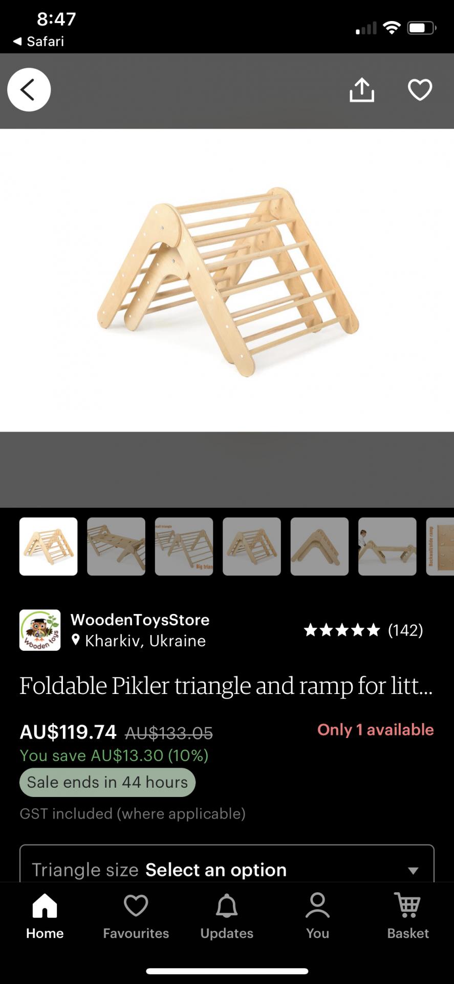 Wooden Pikler