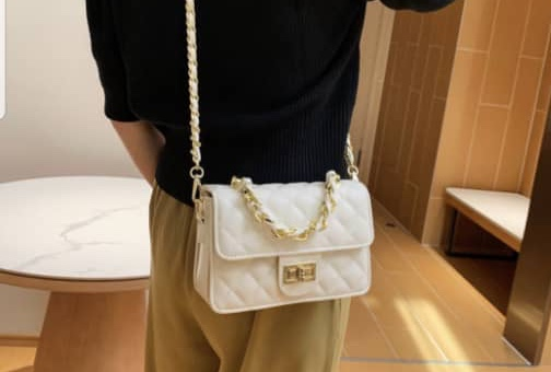 White purse with Gold