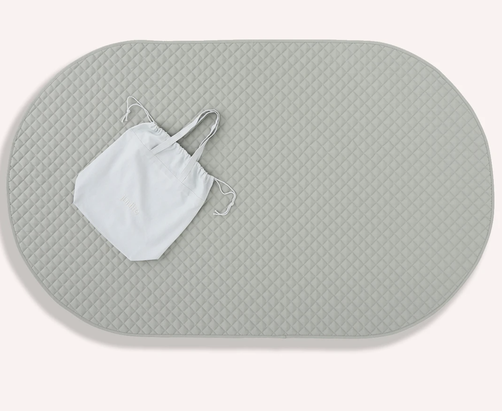 The Memo - OVAL PLAY MAT - GREY