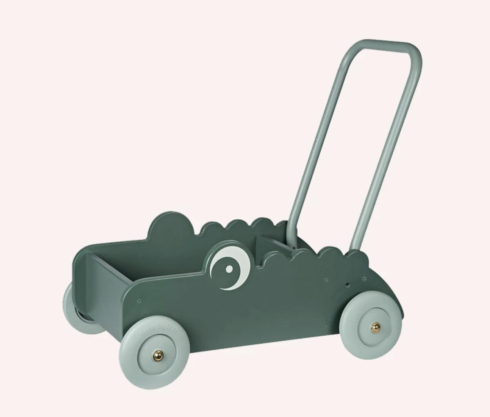 The Memo - CROCO WALKER TROLLEY - GREEN