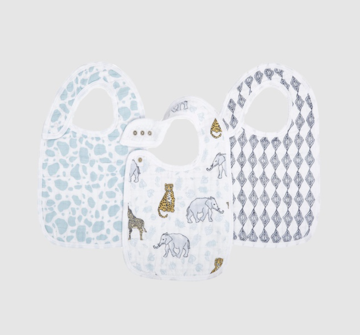 The Iconic - 3 Pack Classic Snap Bibs