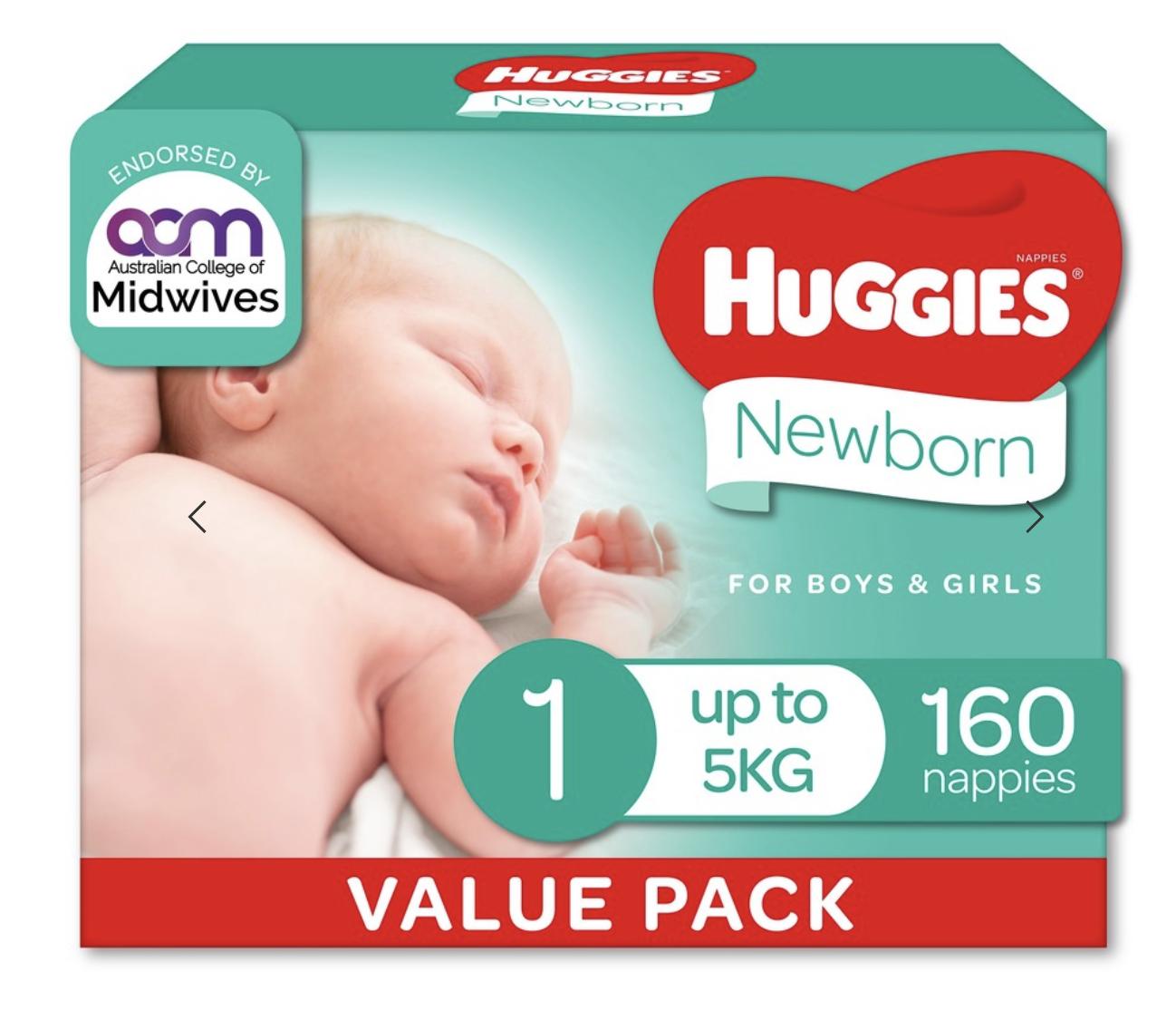 Baby wipes & nappies (Huggies)