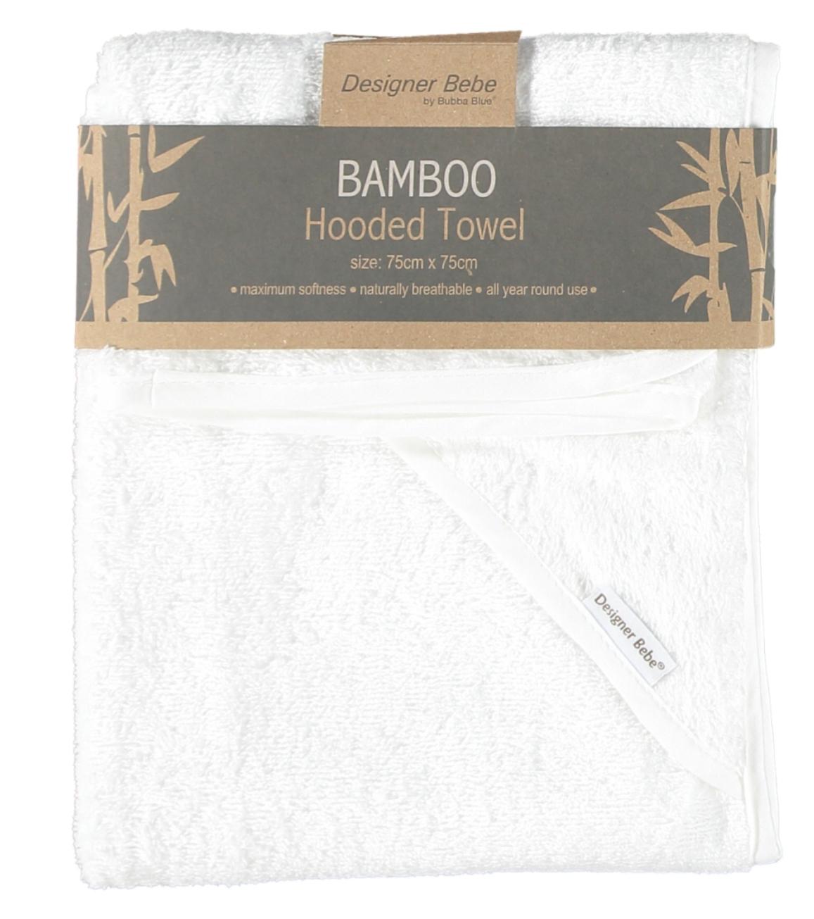 BABY HOODED TOWEL BAMBOO