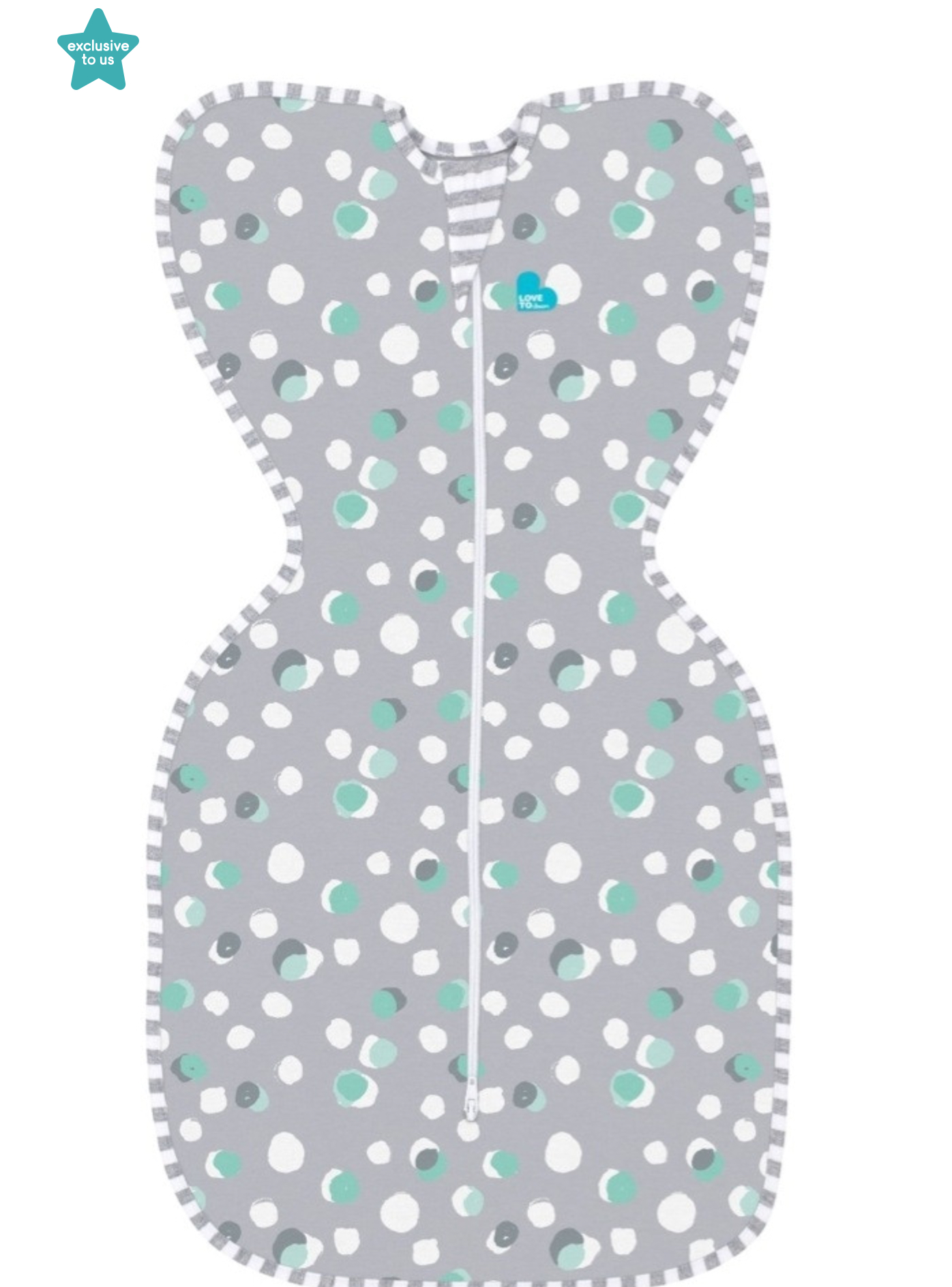 Love To Dream Swaddle Up Original 1.0 Tog Polkadots Grey Small