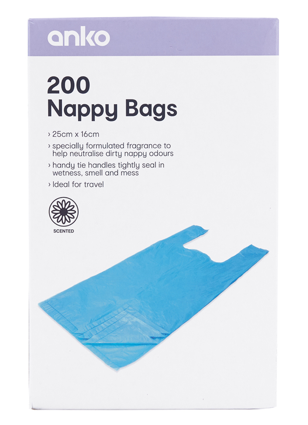 200 Pack Nappy Bags