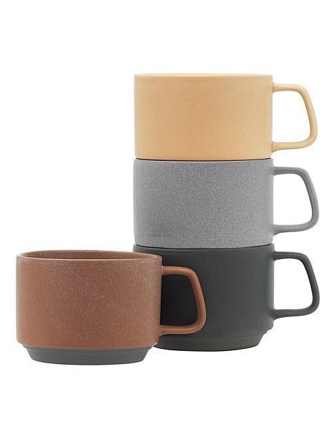 Ecology Stack Set of 4 Mugs 340ml