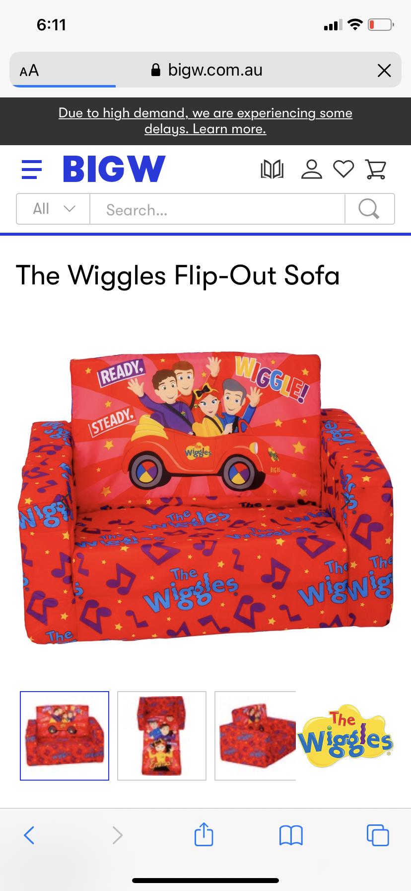 Wiggles kids lounge