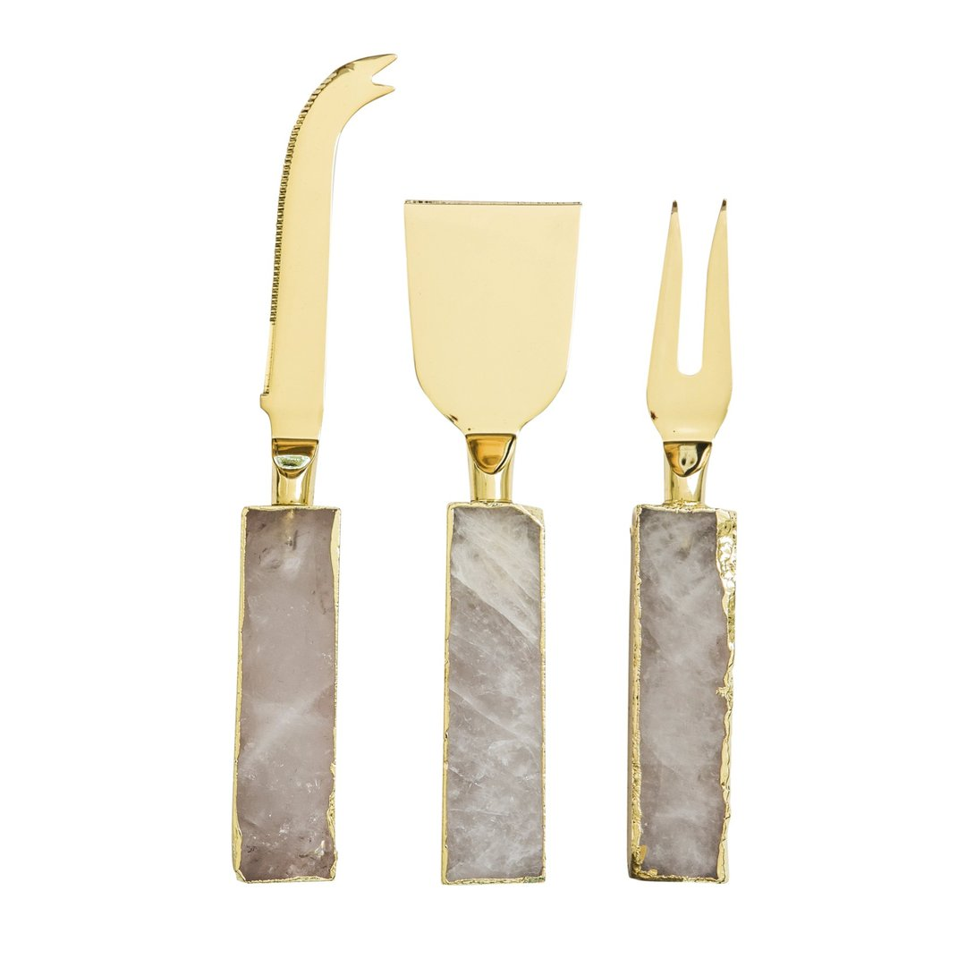 CRYSTAL REINE CHEESE KNIVES (3 PER SET)