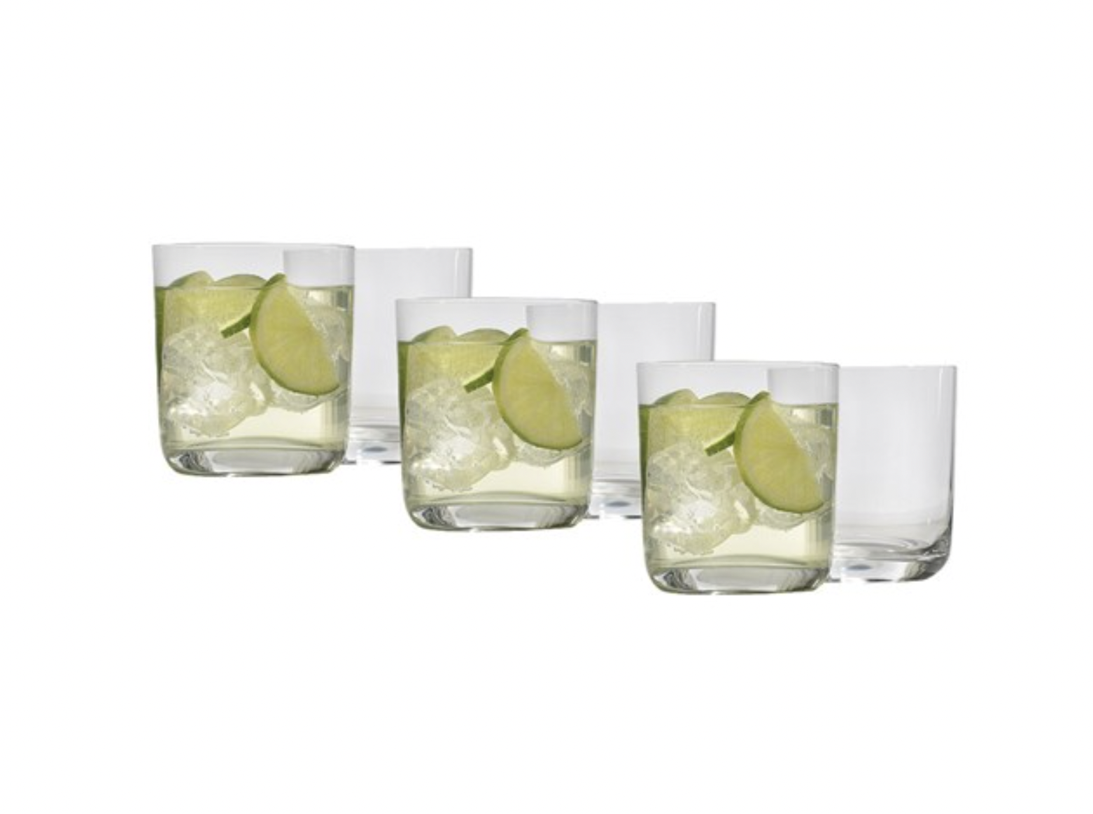 Ecology Classic Crystal Double Old Fashioned Glass 370ml Set of 6
